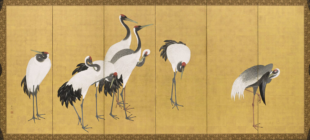 Япония бели жерави